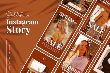 Saddlebrown Instagram Story Template
