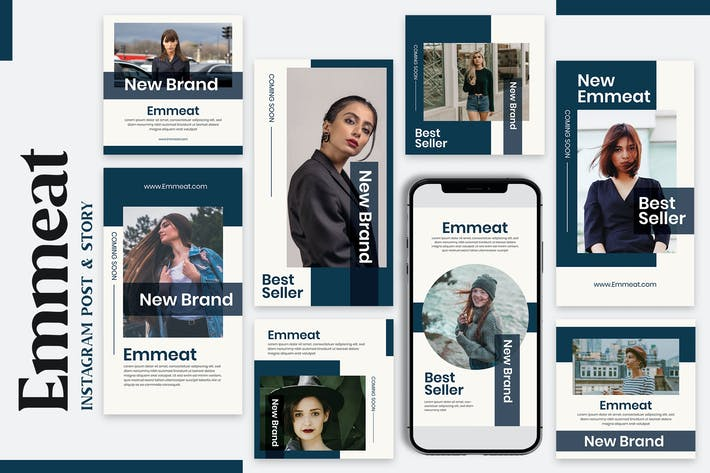 Emmeat - Instagram Post & Story Templates
