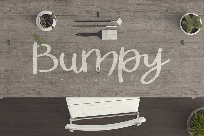 Thumbnail for Bumpy Typeface