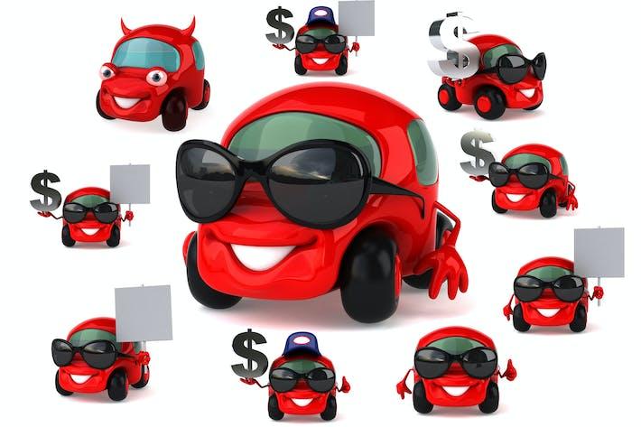 Thumbnail for 10 fun cartoon Red Cars !