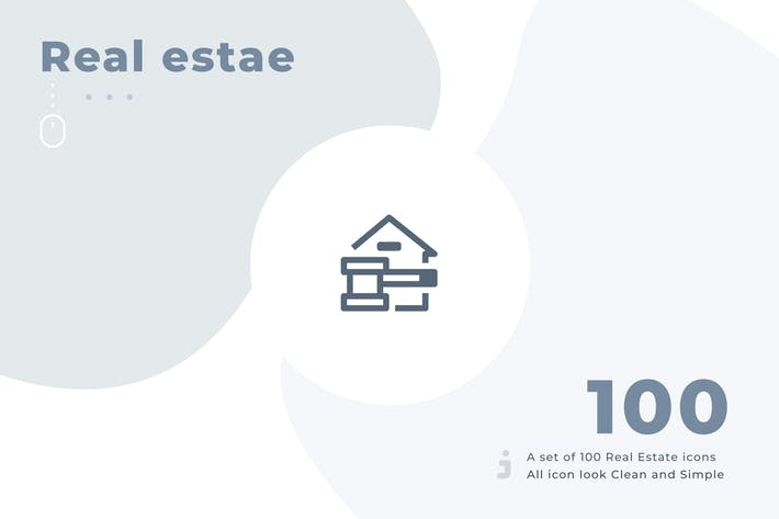 Cover Image For 100 Real Estate icon set - Material