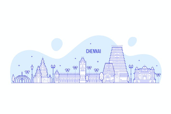 Thumbnail for Chennai skyline, India