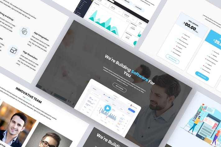 Thumbnail for Softing - Software Landing Page WordPress Theme