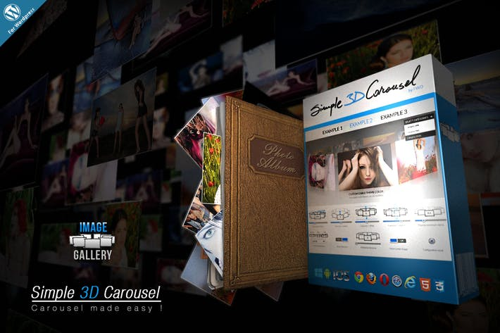 Thumbnail for Simple 3D Carousel Wordpress Plugin