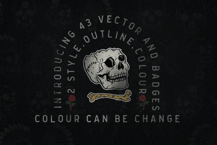 Thumbnail for 43 vector skull