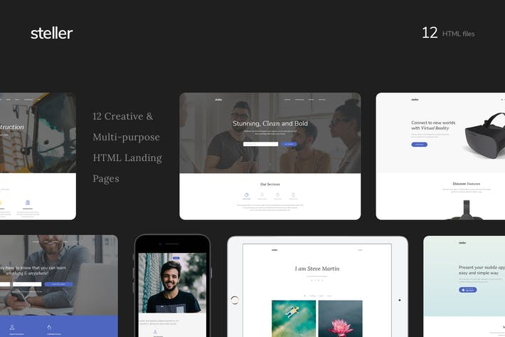 Thumbnail for Steller Multipurpose Landing Page With Builder