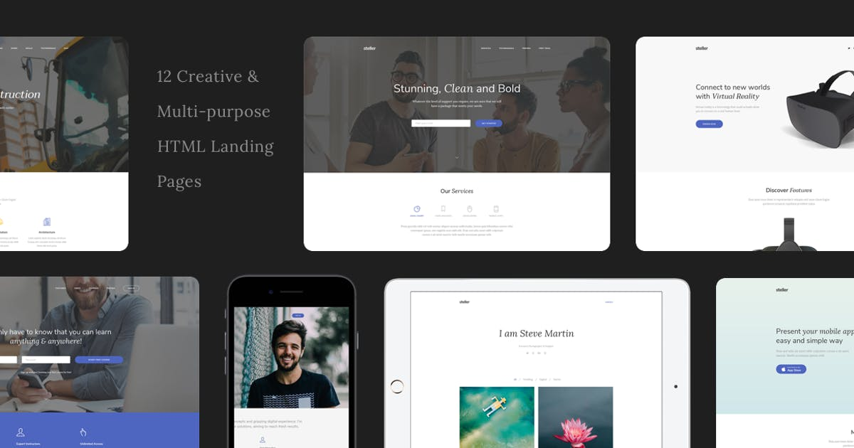Download Steller Multipurpose Landing Page With Builder by zytheme