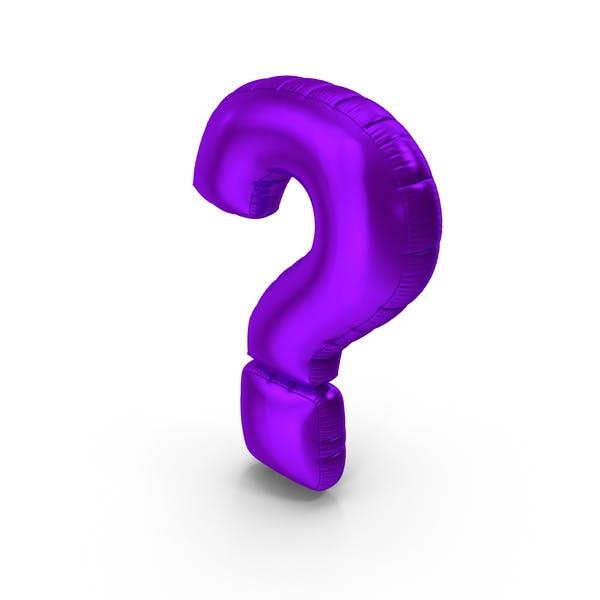 Thumbnail for Foil Balloon Question Mark Purple