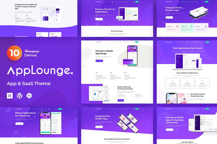 AppLounge - App & SaaS Software Theme by radiantthemes on Envato Elements