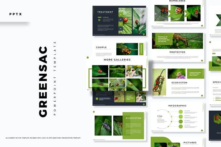 Cover Image For Greensac - Powerpoint Template