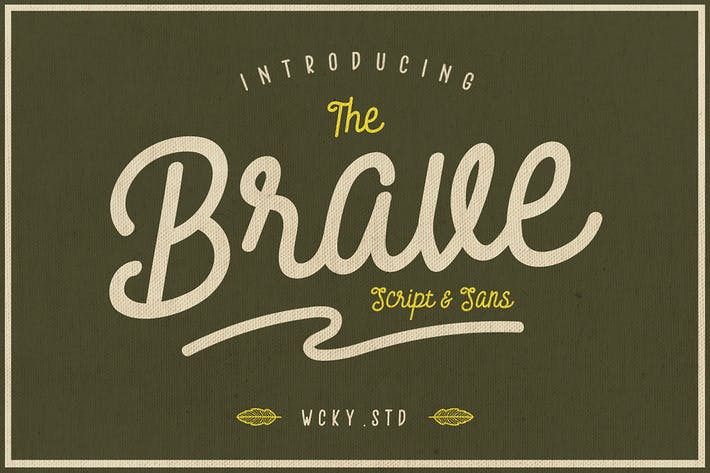 Thumbnail for Brave Typeface