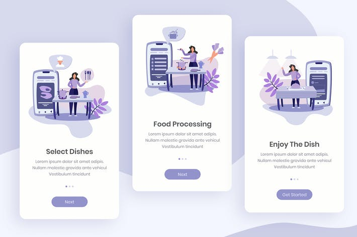 Thumbnail for Cooking App Onboarding App Screens