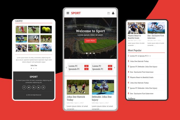 Sport – Mobile Template