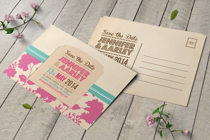 Thumbnail for Wedding Invitation Post Card