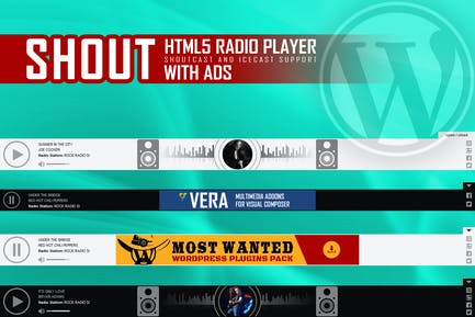 SHOUT - HTML5 Radio Player With Ads - WP Plugin