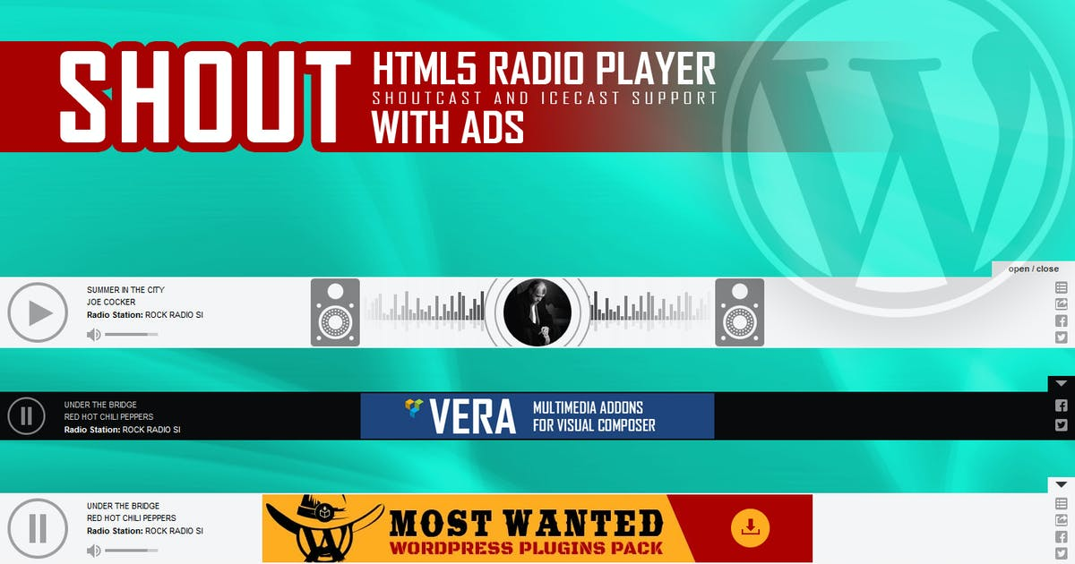 SHOUT - HTML5 Radio Player With Ads - WP Plugin by LambertGroup