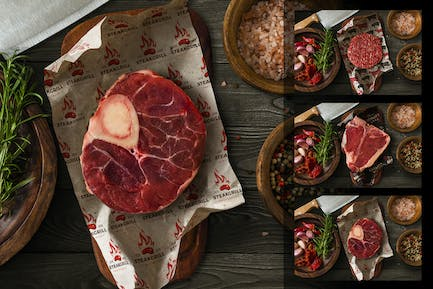 Meat Wrapping Paper Mockup