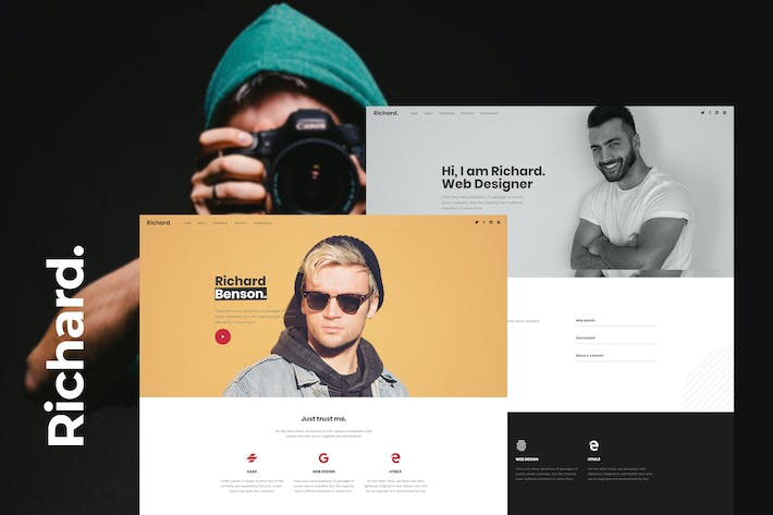 Thumbnail for Richard - Onepage Personal WordPress Theme