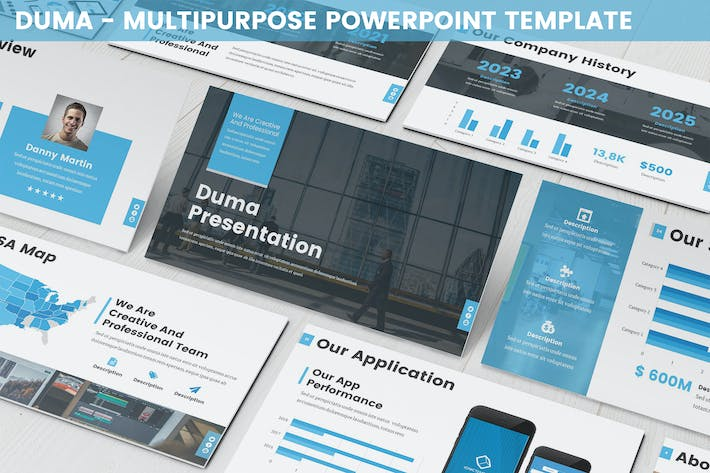 Thumbnail for Duma - Multipurpose Powerpoint Template
