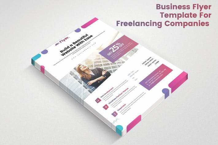 Thumbnail for Business Flyer Template For Freelancing Companies