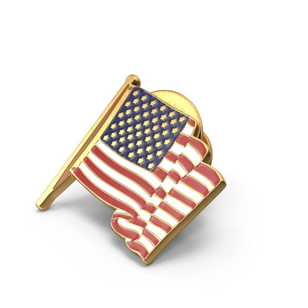 Значок американского флага