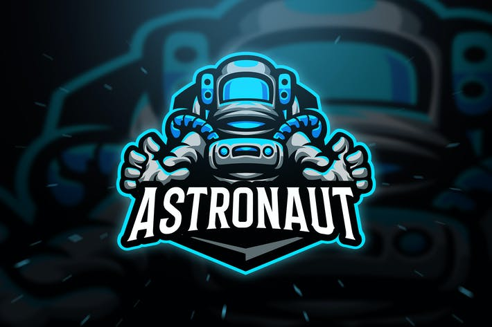 Thumbnail for Astronaut Sport and Esport Logo Template
