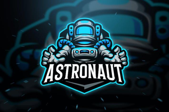 Astronaut Sport and Esport Logo Template