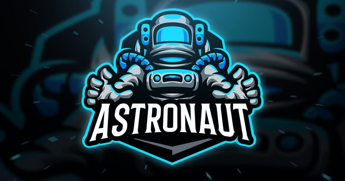 Download Astronaut Sport and Esport Logo Template by Blankids