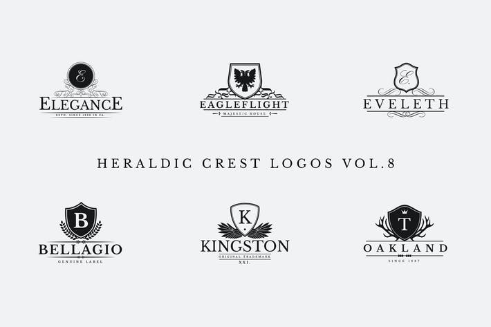 Cover Image For Heraldic Crest Logos Vol.8