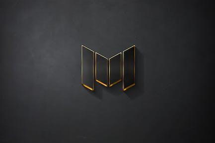 Mockup Logo Or Noir