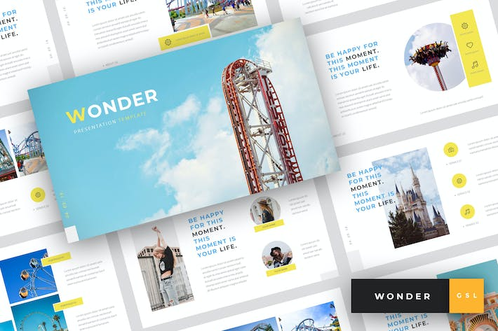 Thumbnail for Wonder - Theme Park Google Slides Template