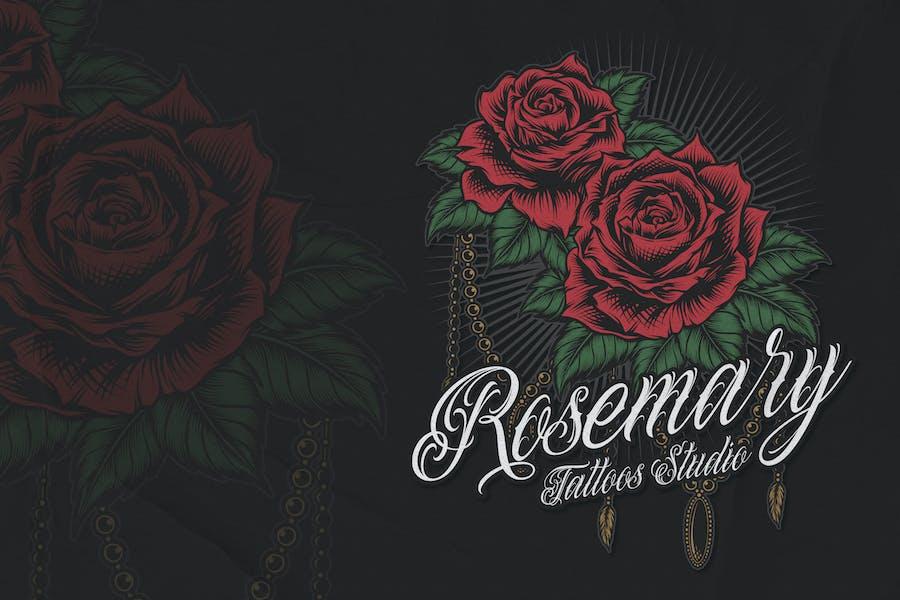 Rose - Tattoo Logo