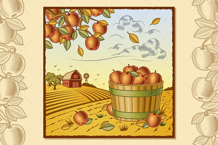 Thumbnail for Landscape With Apple Harvest