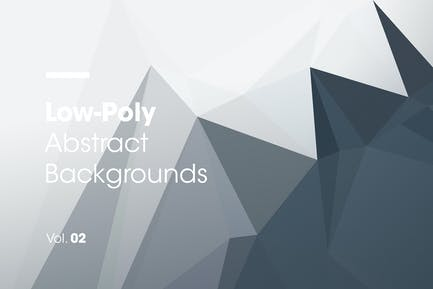 Low-Poly | Abstract Backgrounds | Vol. 02