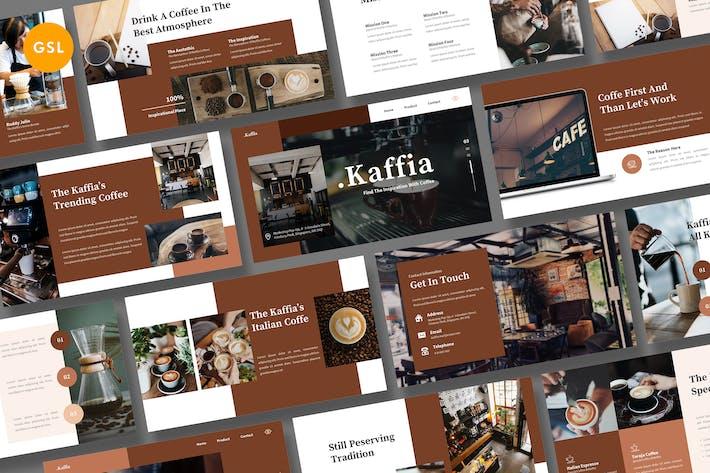 Thumbnail for Kaffia - Кофе Google Слайд Шаблон