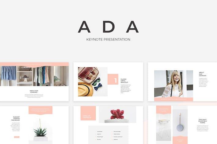 Thumbnail for Ada Keynote Presentation Template
