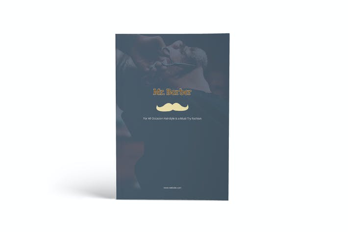 Thumbnail for Mr.Barber Barbershop A4 Brochure Template