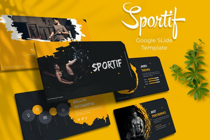 Thumbnail for Sportif - Google Slides Template