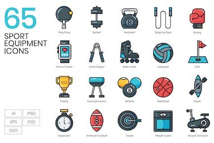 Sport Equipment Icons