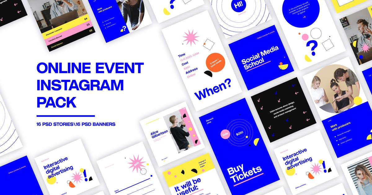 Download Online Event Instagram Pack by MotionMediaGroup