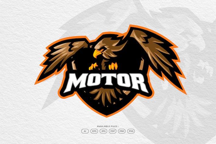 Eagle Bird Fly Wings Rider Motor Bike Mascot Logo