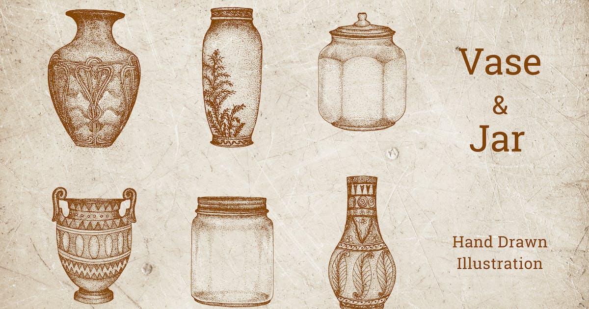 Download Vintage Illustration - Vase and Jar by deemakdaksinas