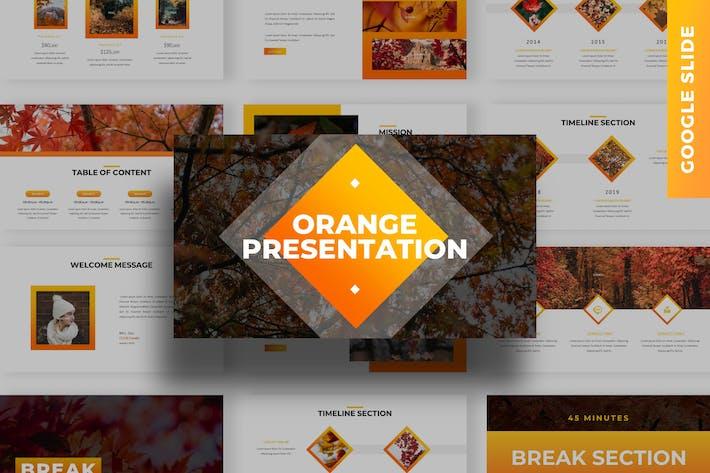 Thumbnail for Orange - Business Google Slide Template