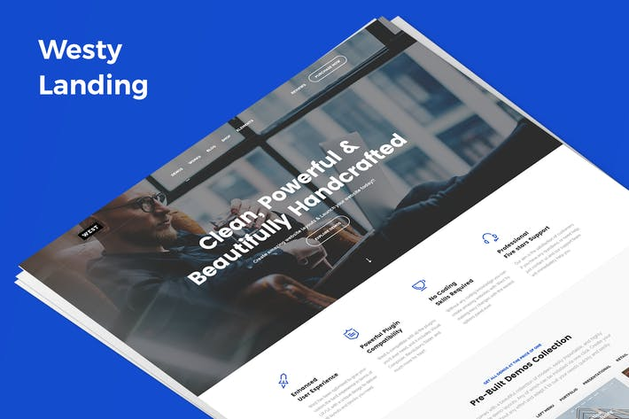 Thumbnail for Westy Demo Landing PSD Template