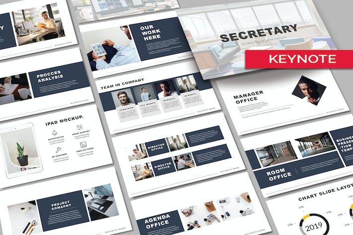 СЕКРЕТАРЬ - Шаблон Keynote для деловых операций