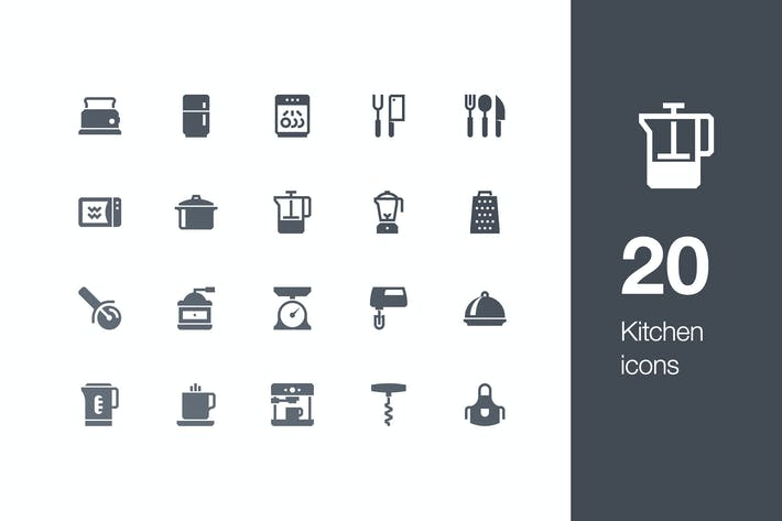 Thumbnail for 20 Kitchen icons