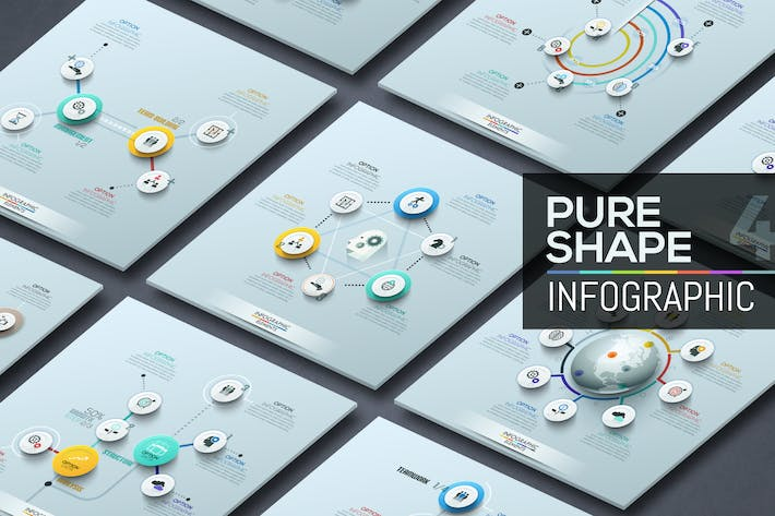 Thumbnail for Pure Shape Infographics. Part 4