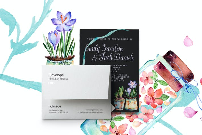 Thumbnail for Spring Wedding Invitation Card