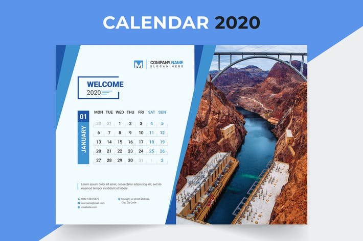 Thumbnail for Desk Calendar 2020