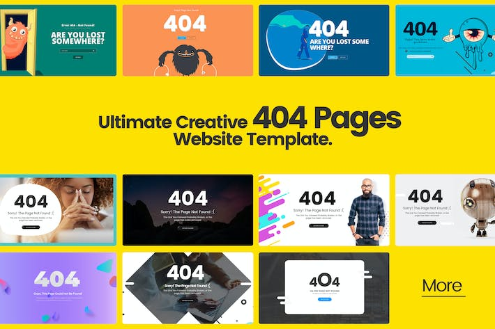 Thumbnail for Ultimate Creative 404 Pages Website Template
